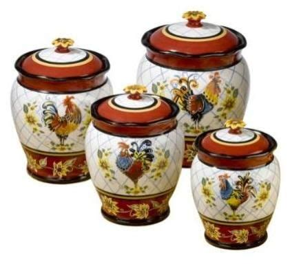Decorative Kitchen Canisters by Rooster Canisters Ceramic Canisters Not Only Make A