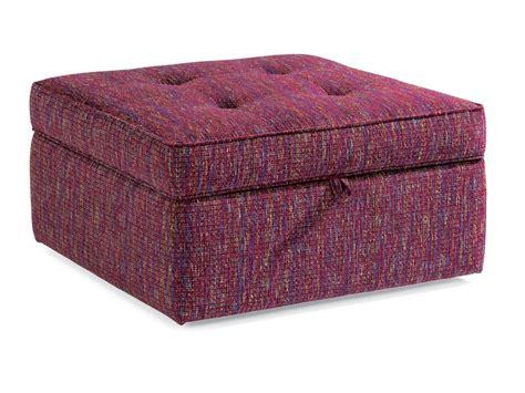 living room with ottoman flexsteel living room fabric square storage ottoman 7408