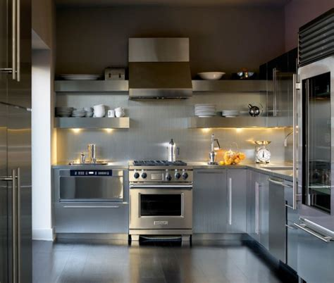 10 Stylish Aluminium Stainless Steel Kitchen Designs by 18 Beautiful Stainless Steel Kitchen Design Ideas