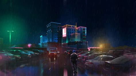 neon rain  yakovlevart  newgrounds