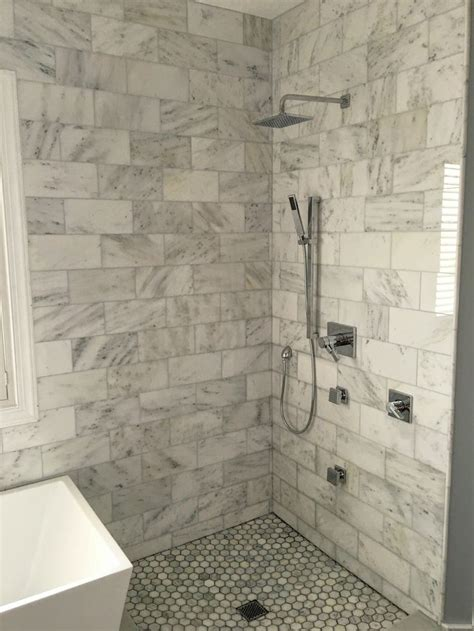 bianco carrara marble shower polished finish