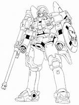 Gundam Coloring Tallgeese Wing Robot Lineart Battle Oz Wallpapers Sd Adult Printable 00ms Uploaded User sketch template