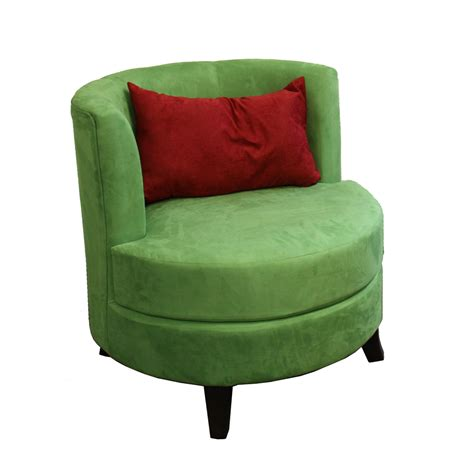 30 5 quot h green accent chair w pillow