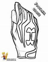 Football Glove Coloring Outs Sports Player Yescoloring Boys Blooded Quarterback sketch template