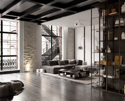 3 Modern Apartments With Chic Rooms For The by 2个工业风格时尚loft住宅设计 设计之家
