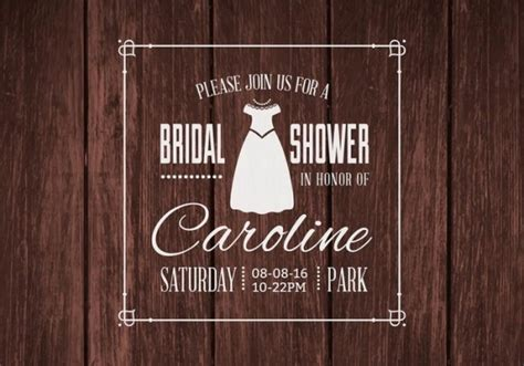 bridal shower invitations psd vector eps