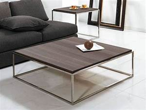 Tavolino Basso Quadrato Lamina