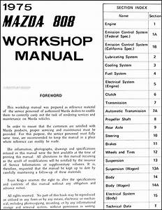 1975 Mazda 808 Repair Shop Manual Original