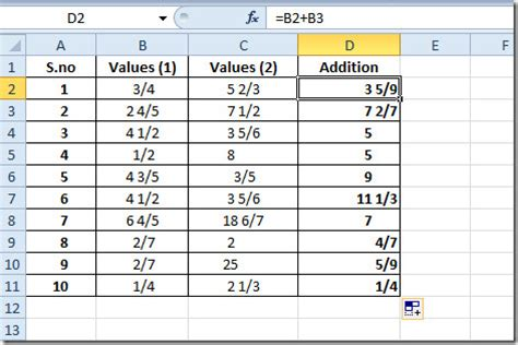 ceiling function in excel 2003 all about fractions in excel 2010