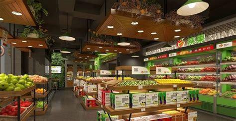 food market interior  cgtrader