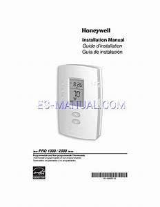Manual De Usuario Para Termostatos Honeywell Pro 1000