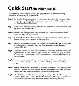 8 Policy Manual Templates To Download