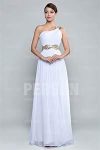 Robe Pour Temoin De Mariage : robe t moin mariage blanche asym trique orn de strass ~ Melissatoandfro.com Idées de Décoration