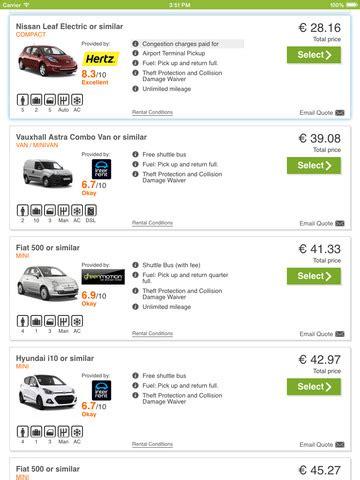 cars scanner screenshot