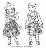 Around Coloring Scotland Pages Crafts Colouring Tartan Adult Morag Katie Burns Scottish Icolor Kilt Children Christmas Night sketch template