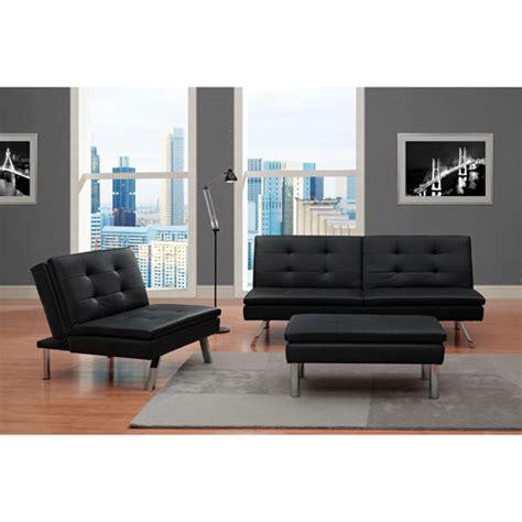 chelsea 3 piece living room set black walmart com
