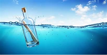 Bottle Message Ocean Floating Marketing Fles Newsletter
