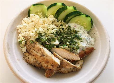 cauliflower rice bowl  chicken yelp