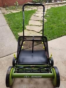Sun Joe Mj501m Manual Reel Mower With Grass Catcher