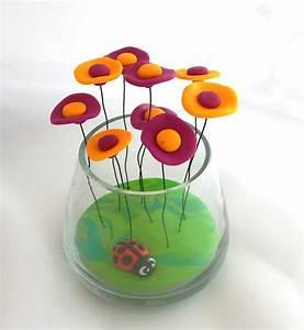 bouquet de fleurs miniatures et colorees en fimo pate With chambre bébé design avec bouquet de fleur a domicile