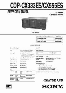 Sony Cdp-cx55 Service Manual