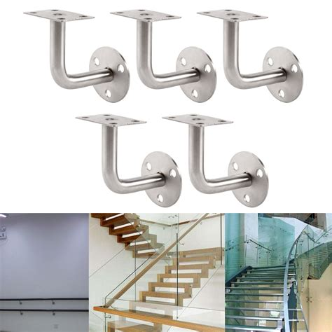 banister rail brackets 5x stainless steel banister rail mounting handrail wall