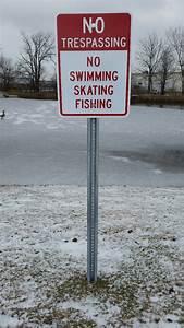 Custom, Retention, Pond, Signs