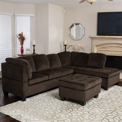 Sofa Set In Walmart by Noble House Harrison 3 Fabric Sectional Sofa Set