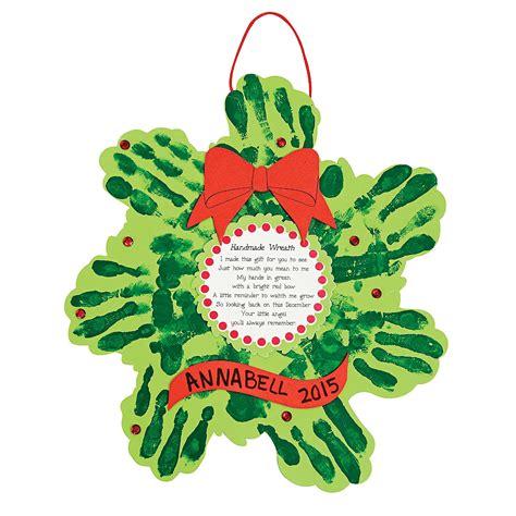 christmas handprint crafts wreath handprint poem craft kit handprint crafts crafts for craft hobby