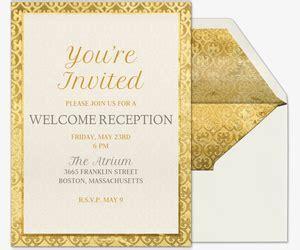 wedding reception invitations evite