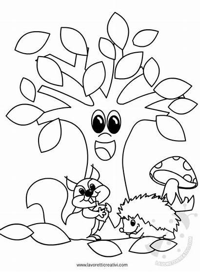 Autunno Disegni Coloring Cartellone Bambini Fall Colorare