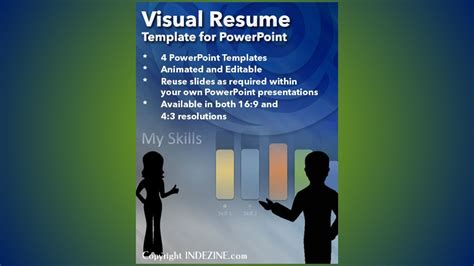 Visual Resume Presentation by Visual Resume Template For Powerpoint