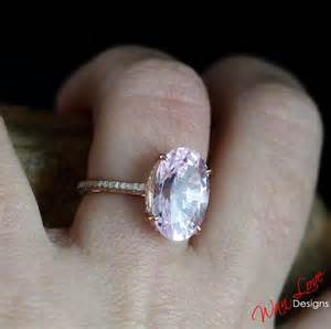 light pink sapphire engagement rings custom light pink sapphire engagement by wanlovedesigns