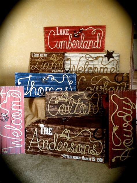 fully customized rope  signs western theme beach