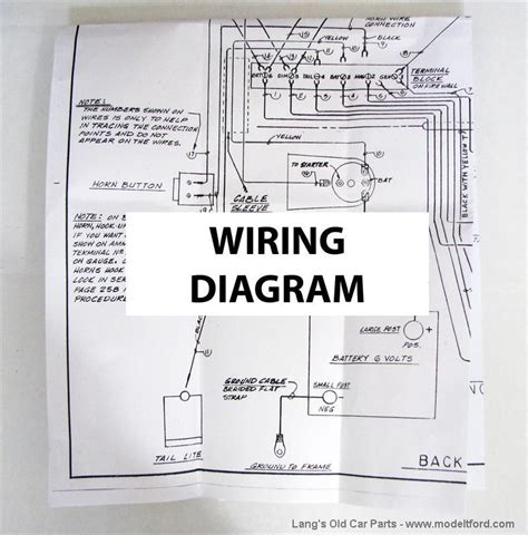 1926 1927 Model T Ford Wiring Diagram by Model T Wiring Diagram For The Improved Car 5039b