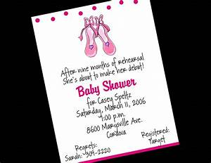 Ballerina Baby Shower Invitations | THERUNTIME.COM