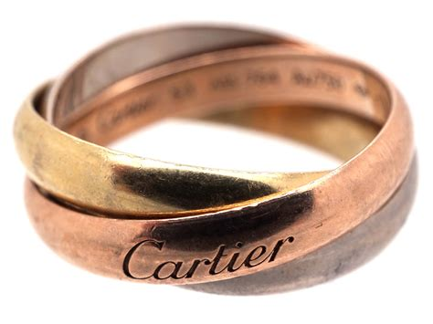 cartier russian wedding ring cartier three colour gold russian wedding ring the jewellery company