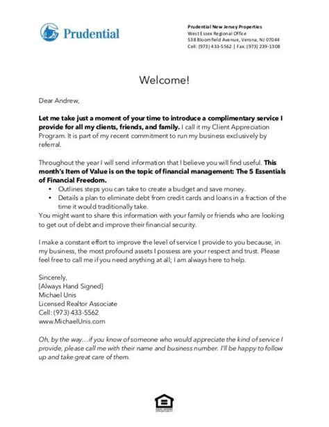 real estate introduction letter  friends template