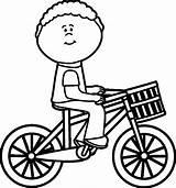 Coloring Riding Bike sketch template