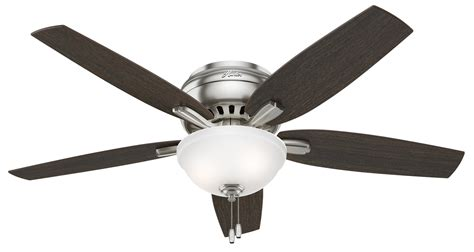 hugger ceiling fan no light hunter newsome 52 hugger with bowl light ceiling fan 53315