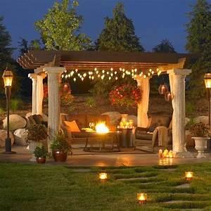 Pergola String Lights Set A Romantic Mood In Your Backyard