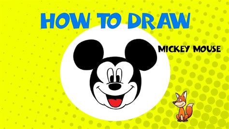 draw mickey mouse step  step drawing tutorial