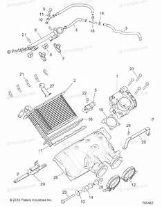 Polaris Side By Side 2016 Oem Parts Diagram For Engine  Air Intake Manifold