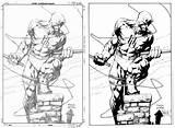 Daredevil Coloring Finch Dave David Pencils Marvel Drawings Deviantart Sketches Comic Drawing Pencil Comics Sonja Popular Inks Google Coloringhome sketch template