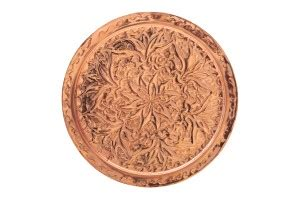 copper tray engraved