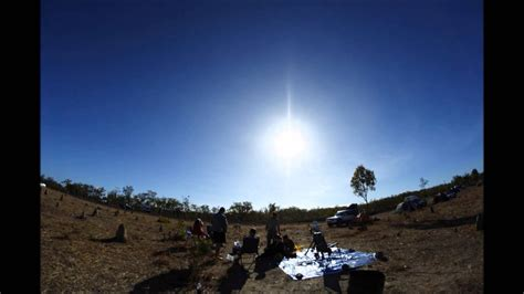 total solar eclipse  australia youtube