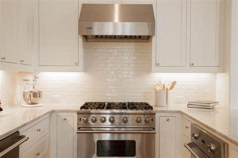 backsplash for white kitchens white glazed kitchen backsplash tiles transitional kitchen