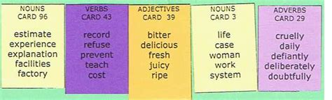 sentence master    word card writing exercises