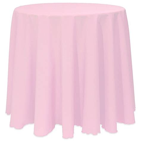 light pink table cloth basic 120 inch tablecloth in light pink bed bath