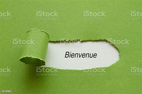 French Word Bienvenue Which Means Welcome Stock Photo ...